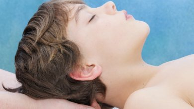 Boy receiving Gillespie Approach—Craniosacral Fascial Therapy