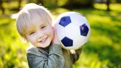 Toddler holding soccer ball - respiratory issues - Gillespie Approach–Craniosacral Fascial Therapy