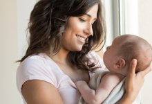 Mother holding comfortable baby - Gillespie Approach - Craniosacral Fascial Therapy