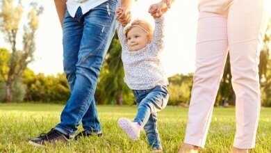 Lifelong health - toddler walking with parents - Gillespie Approach–Craniosacral Fascial Therapy