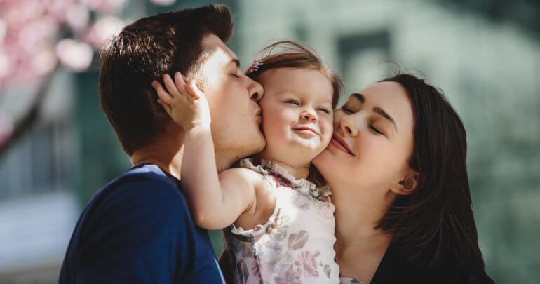 Gillespie Approach–Craniosacral Fascial Therapy health conditions - happy family - mother, father and child