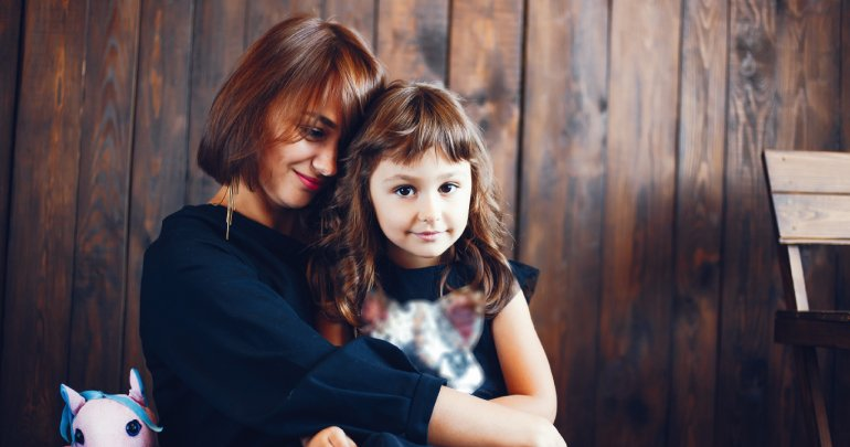Genetic complications healing story - mother embracing daughter - Gillespie Approach–Craniosacral Fascial Therapy