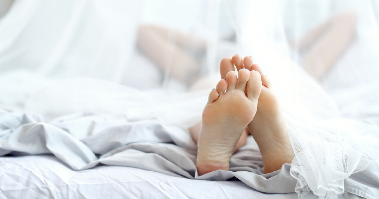 Bilateral pigeon-toed or intoeing fetal birth trauma - feet in bed - Gillespie Approach–Craniosacral Fascial Therapy