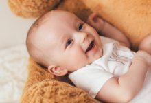 Importance of the diaphragm - baby beside toy bear - Gillespie Approach–Craniosacral Fascial Therapy
